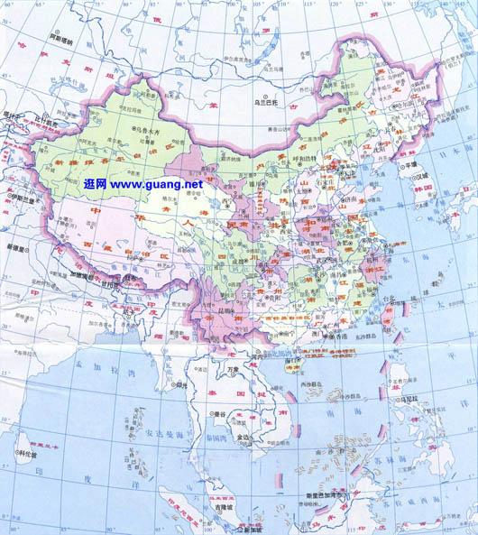 中国地图高清版_中国地图简洁版大图图片
